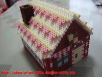パーラービーズ:お菓子の家①