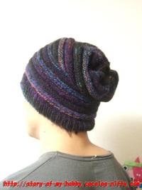手編みのニット帽②