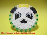 アイロンビーズ作品:パンダの王子様