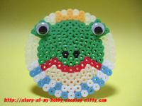 アイロンビーズ作品:カエルの王子様
