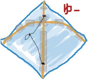 ココログお絵かき:手作り凧